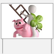 lucky pig Yard Sign