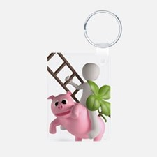 lucky pig Keychains