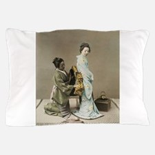 Japanese Geisha Pillow Case