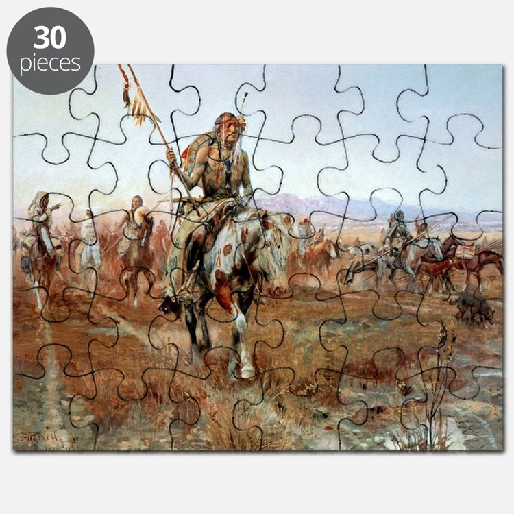 Cute Oklahoma state cowboys mens Puzzle