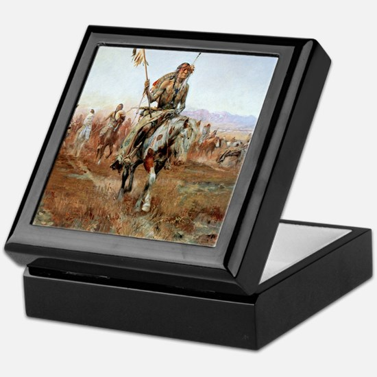 Cute Oklahoma state cowboys mens Keepsake Box