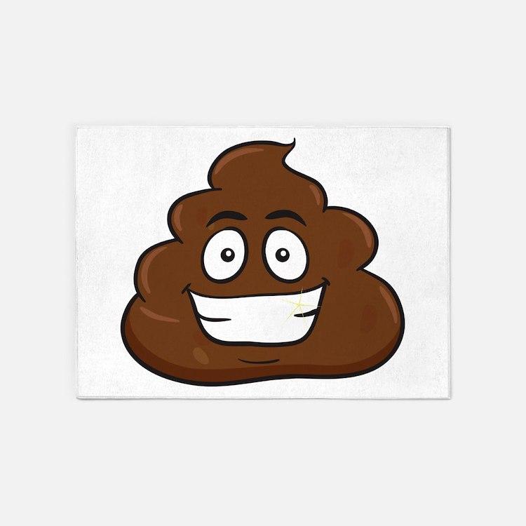 Poop Emoji Rugs, Poop Emoji Area Rugs