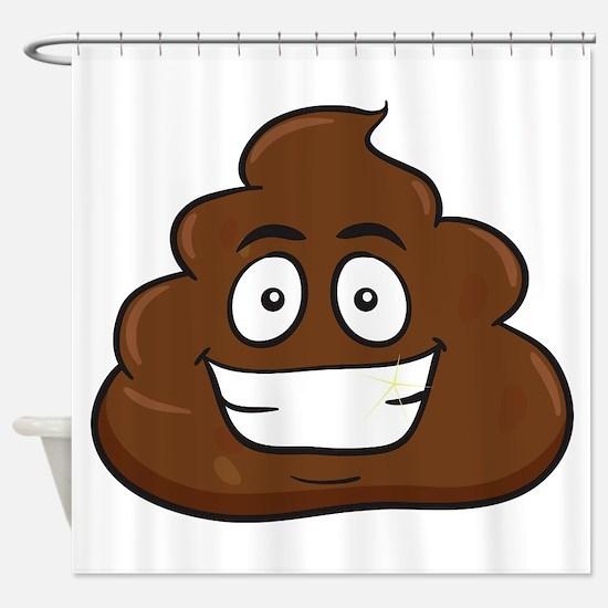 emoji poop Shower Curtain