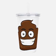 emoji poop Acrylic Double-wall Tumbler
