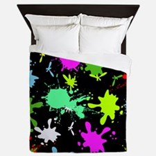 Art Splatter Queen Duvet