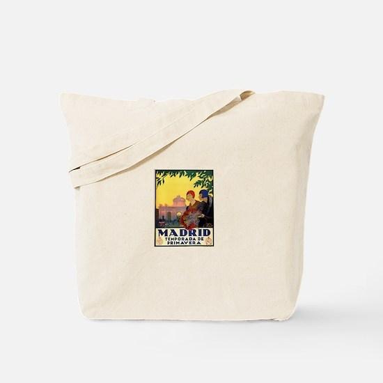 Madrid Temporada de Primavera - Vintage T Tote Bag