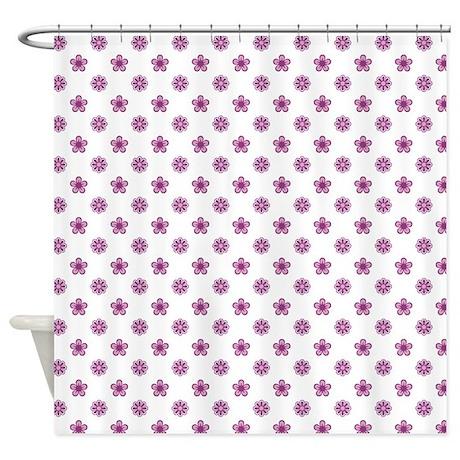 purple flowers shower curtain by thepurpleshoppe