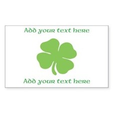 St. Patricks Day personalisable shamrock Decal