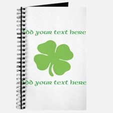 St. Patricks Day personalisable shamrock Journal