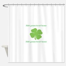 St. Patricks Day personalisable shamrock Shower Cu