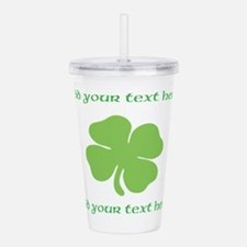 St. Patricks Day personalisable shamrock Acrylic D