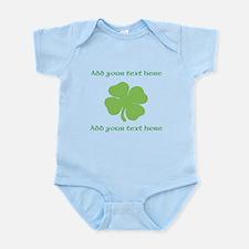 St. Patricks Day personalisable shamrock Body Suit