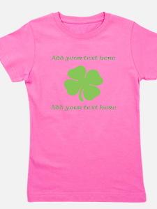 St. Patricks Day personalisable shamrock Girl's Te