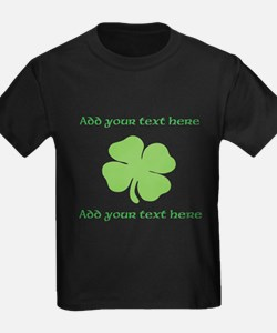 St. Patricks Day personalisable shamrock T-Shirt