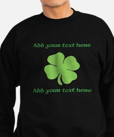 St. Patricks Day personalisable shamrock Sweatshir