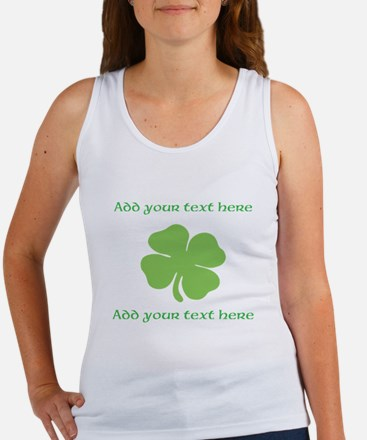 St. Patricks Day personalisable shamrock Tank Top