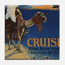 Cute Cool camel Tile Coaster