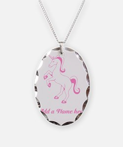 Personalisable Pink Unicorn Necklace