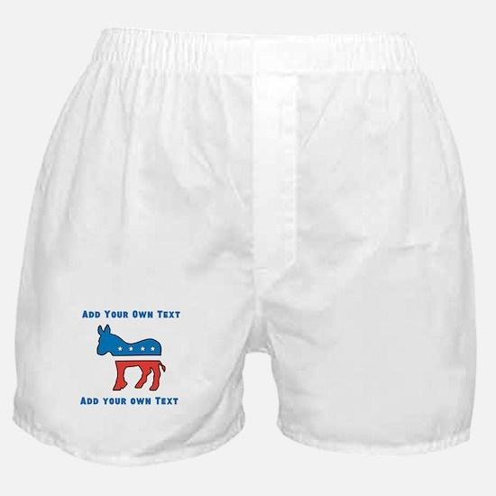 Democrat Donkey Template Boxer Shorts