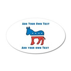 Democrat Donkey Template Wall Decal