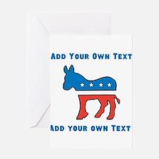 Democrat Donkey Template Greeting Cards