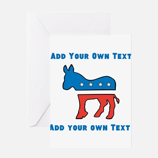 Democrat Donkey Template Greeting Cards