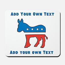 Democrat Donkey Template Mousepad