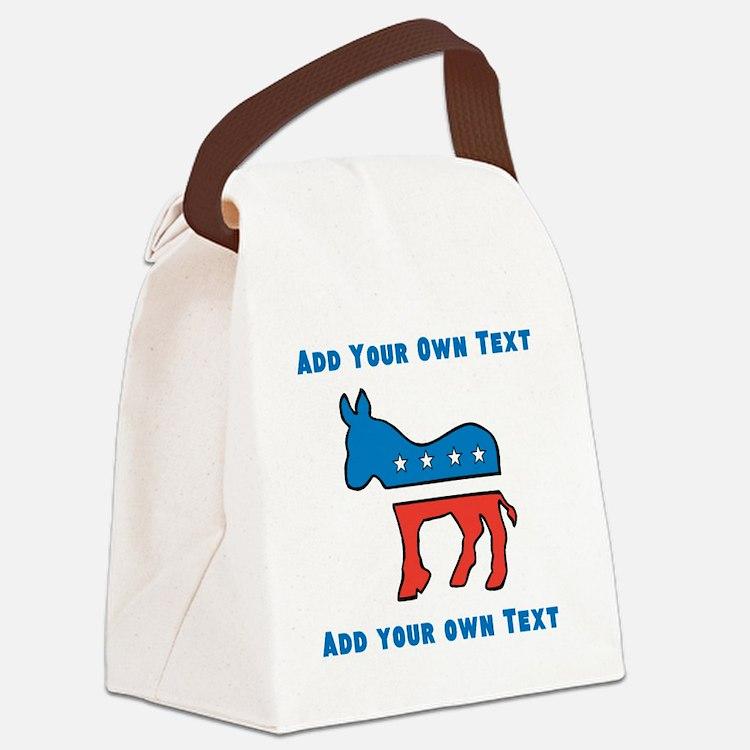 Democrat Donkey Template Canvas Lunch Bag