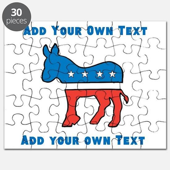 Democrat Donkey Template Puzzle