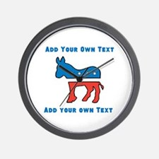 Democrat Donkey Template Wall Clock
