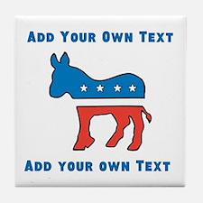 Democrat Donkey Template Tile Coaster