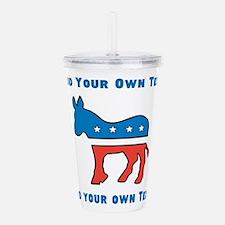Democrat Donkey Template Acrylic Double-wall Tumbl