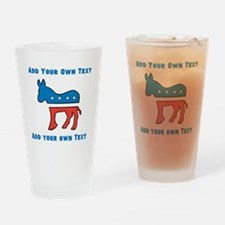 Democrat Donkey Template Drinking Glass