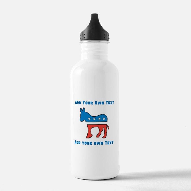 Democrat Donkey Template Water Bottle