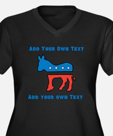 Democrat Donkey Template Plus Size T-Shirt
