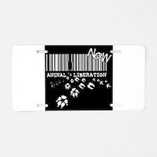Animal Liberation Now - Unt Aluminum License Plate