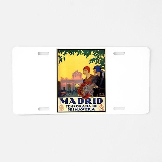 Madrid Temporada de Primave Aluminum License Plate