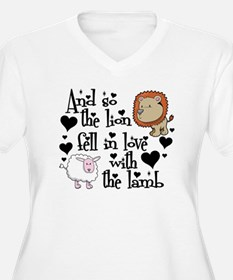 The lion fell in love with the l Plus Size T-Shirt
