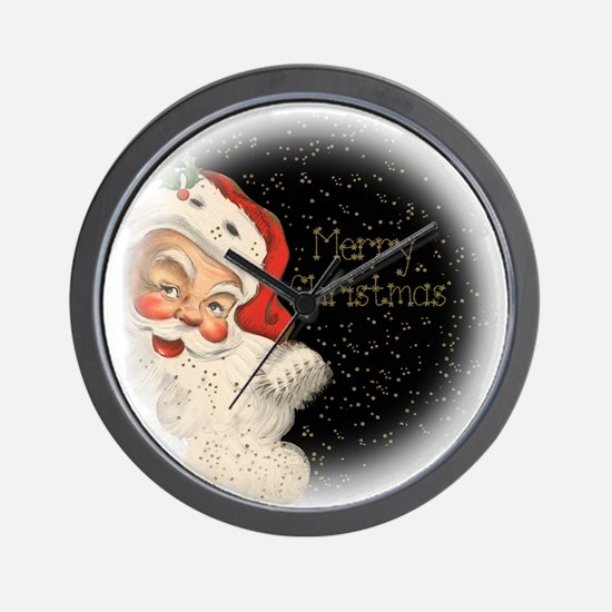 Santa in the stars Wall Clock