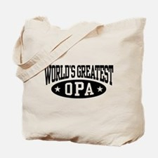 World's Greatest Opa Tote Bag