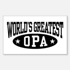 World's Greatest Opa Decal