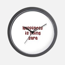 happiness is being Zara Wall Clock