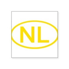 "Cute Nl Square Sticker 3"" x 3"""