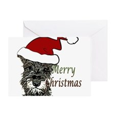 Schnauzer Christmas Greeting Card