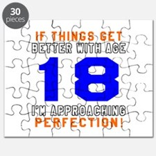 18 I'm Approaching Perfection Birthday Desi Puzzle