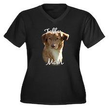 Toller Mom2 Women's Plus Size V-Neck Dark T-Shirt