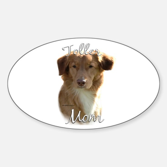 Toller Mom2 Oval Decal