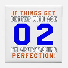02 I'm Approaching Perfection Birthda Tile Coaster