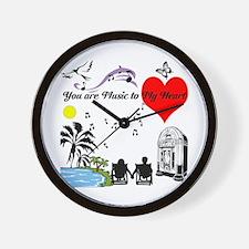Music to My Heart Wall Clock