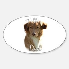 Toller Dad2 Oval Decal